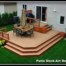 Backyard Decking Ideas by Two Tier Decks Design Ideas Pictures Remodel And Decor