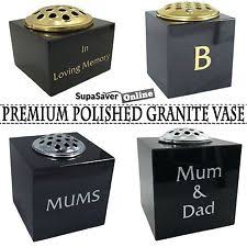 Flower Vase For Grave Granite Grave Memorial Ebay