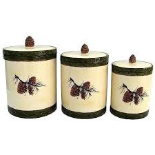 pine cone 3 pc canister set cabin place