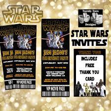 star wars movie invitation movie ticket printable movie