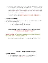 Capital One Spark Business Card Login Capital One Bank Credit Card Payments