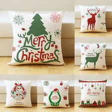 online get cheap noel pillow aliexpress com alibaba group 45x45cm christmas tree cushion cover pillow case merry christmas decorations for home throw pillow covers linen