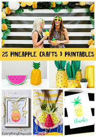 Paper Pineapple Decorations 25 Pineapple Crafts U0026 Free Printables Diy Goodness Everything