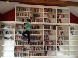 White Library Bookcase by White Library Bookcase With Ladder Thesecretconsul Com