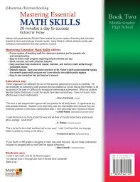 mastering essential math skills 20 minutes a day to success book