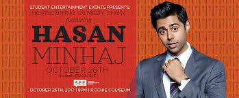 preview hasan minhaj headlines the homecoming comedy show the