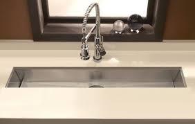 narrow kitchen sinks houzer zero radius undermount trough bar prep sink prep sink