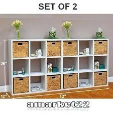 bookcase cube shelves white horsens 16 cube bookshelf white 9