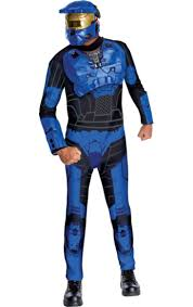 Halloween Costumes Spartan Halo Blue Spartan Costume Computer Game Fancy Dress