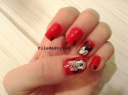 disney nail art polished looks by melissa mickey mouse my disney