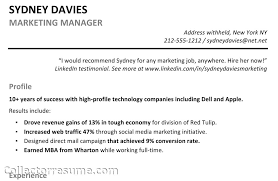 resume profile example 8 work profile sample resume pictures