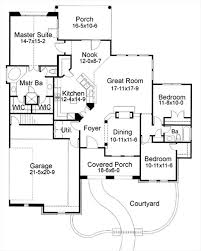 mediterranean floor plans with courtyard mediterranean house plan with 3 bedrooms and 2 5 baths plan 6755