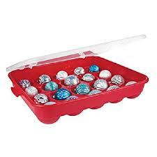 sterilite ornament storage container