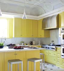Yellow Kitchen With White Cabinets - yellow kitchen with white cabinets the sun shines this year