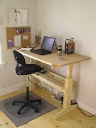 Adjustable Standing Desk Diy Furniture How Do I Make A Height Adjustable Desk Home