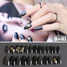 high quality wholesale nail designs black tips from china nail