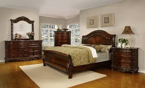 Pecan Bedroom Furniture Solid Wood Fairfax Home Furnishings Patterson Sleigh Bedroom Set In Rich Pecan