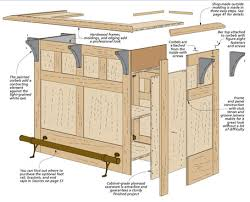 Mission Style Curio Cabinet Plans Craftsman Style Bar Woodsmith Plans
