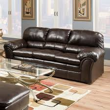 Leather Sofas Simmons Upholstery Premier Bonded Leather Sofa Hayneedle