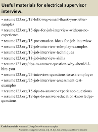 sample resume for electrician top 8 electrical supervisor resume samples