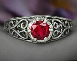 gothic ruby rings images Modern ruby ring etsy jpg