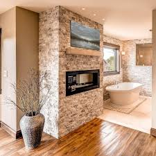 fireplace decoration bathroom awesome privat bathroom design with bamboo fence and