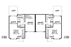Duplex Plan by Contemporary House Plans Mooresville 60 005 Associated Designs