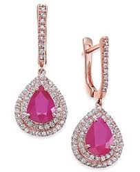 ruby drop earrings ruby earrings shop ruby earrings macy s