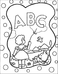 coloring pages kids abc scene coloring page alphabet animal