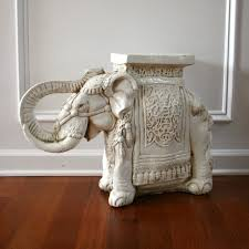 Elephant Side Table Elephant Table White End Sidetable Plant Stand Chinoiserie