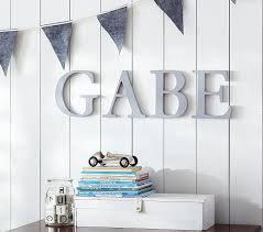 Decorative Letters For Walls Gray Capital Letters Pottery Barn Kids