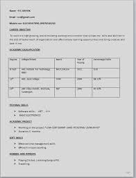Resume Template Career Objective 12 Simple Resume Format Recentresumes Com
