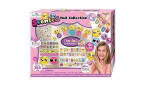 nail art for girls nail polish salon set for kids emoji stickers