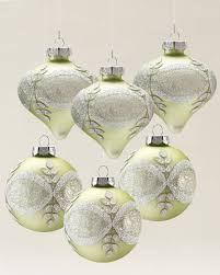 sparkle and snowflake ornament set balsam hill