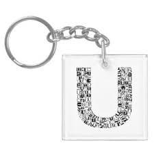 alphabet letter u keychains zazzle