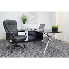 Boss Reception Desk by Boss Black Heavy Duty Double Plush Chair B991 Cp The Home Depot
