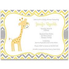 baby shower giraffe giraffe baby shower invitations chevron stripes