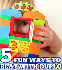 duplo preschool play table 5 ways to play and learn with duplo