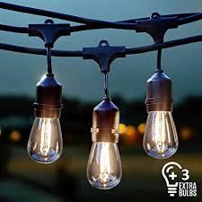 led edison string lights amazon com vintage outdoor string lights kit 2w s14 led filament