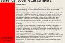 bartender cover letter sample cover letter for bar staff job no