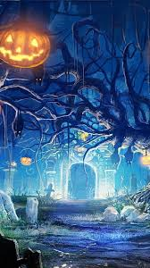 pumpkin backgrounds for halloween download wallpaper 2160x3840 halloween holiday castle gates