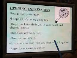informal letter lessons tes teach