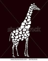 s day giraffe vector giraffe silhouette abstract animal illustration stock