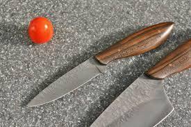 custom chefs set in leather ziricote wood