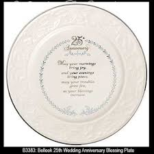25th anniversary plates belleek blessing plate 25th wedding anniversary