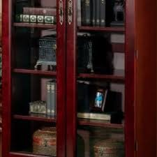 Cherry Bookcase With Glass Doors 16 Small Bookcase With Glass Doors In Cherry Finish One Door