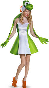 Halloween Costume Womens Women U0027s Yoshi Costume Mario Brother U0027s Halloween Costumes Yoshi