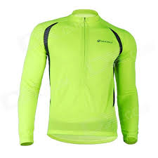 fluorescent cycling jacket nuckily nj600 l men s long sleeves fast dry cycling jersey clothing