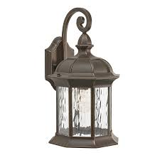 Kichler Outdoor Wall Sconce Shop Kichler Brunswick 16 06 In H Olde Bronze Medium Base E 26