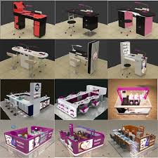 Nail Bar Table Station Made In China Good Quality Nail Stations Manicure Table Sy055